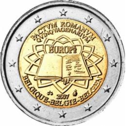 Belgio 2007 - 2 euro commemorativo 50° anniversario della firma del Trattato di Roma.