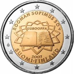Finlandia 2007 - 2 euro commemorativo 50° anniversario della firma del Trattato di Roma.