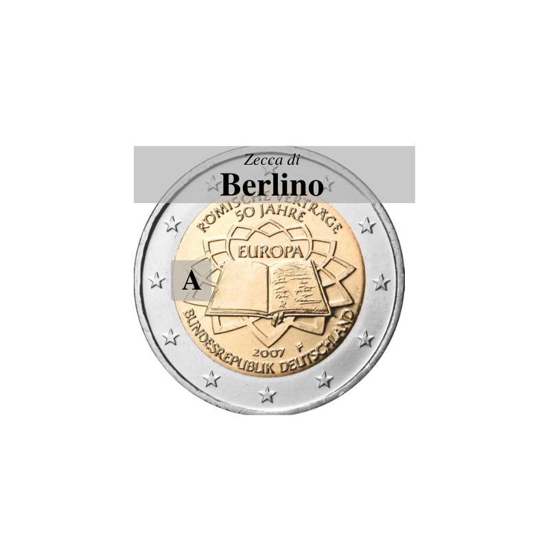 Germania 2007 - 2 euro commemorativo 50° anniversario della firma del Trattato di Roma - zecca di Berlino A