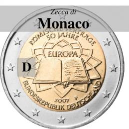 Germania 2007 - 2 euro commemorativo 50° anniversario della firma del Trattato di Roma - zecca di Monaco D