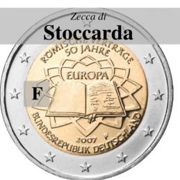 Germania 2007 - 2 euro commemorativo 50° anniversario della firma del Trattato di Roma - zecca di Stoccarda F