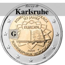 Germania 2007 - 2 euro commemorativo 50° anniversario della firma del Trattato di Roma - zecca di Karlsruhe G