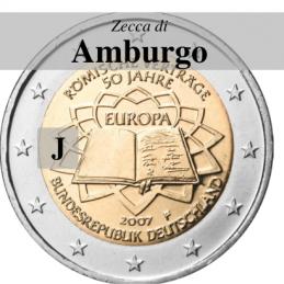 Germania 2007 - 2 euro commemorativo 50° anniversario della firma del Trattato di Roma - zecca di Amburgo J