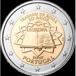 Portogallo 2007 - 2 euro commemorativo 50° anniversario della firma del Trattato di Roma