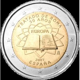 España 2007 - 2 euros conmemorativos del 50 aniversario de la firma del Tratado de Roma