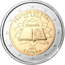 Spain 2007 - 2 euro commemorative 50th anniversary of the signing of the Treaty of Rome