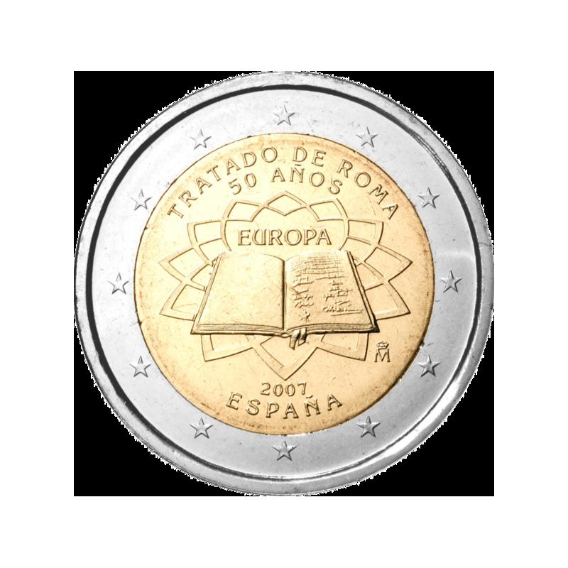 Espagne 2007 - 2 euros commémorative 50e anniversaire de la signature du traité de Rome