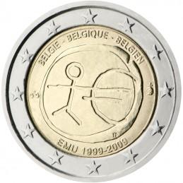 Belgio 2009 - 2 euro commemorativo 10° anniversario dell'Unione Economica e Monetaria.