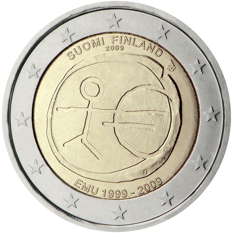 Finlandia 2009 - 2 euro commemorativo 10° anniversario dell'Unione Economica e Monetaria.