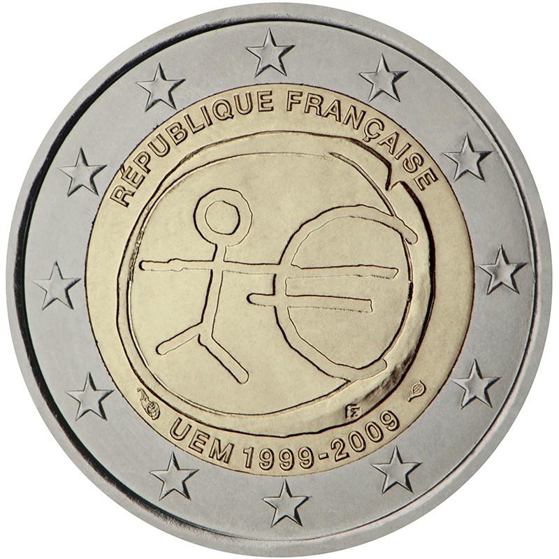 Francia 2009 - 2 euro commemorativo 10° anniversario dell'Unione Economica e Monetaria.