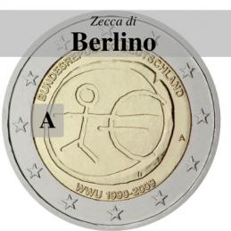 Germania 2009 - 2 euro commemorativo 10° anniversario dell'Unione Economica e Monetaria - zecca di Berlino A