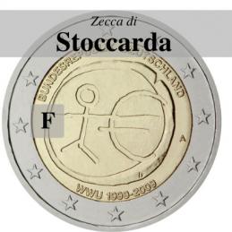Germania 2009 - 2 euro commemorativo 10° anniversario dell'Unione Economica e Monetaria - zecca di Stoccarda F