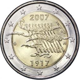 Finlandia 2007 - 2 euro commemorativo 90° anniversario indipendenza della Finlandia