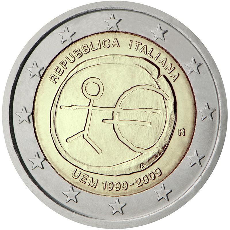 Italia 2009 - 2 euro commemorativo 10° anniversario dell'Unione Economica e Monetaria