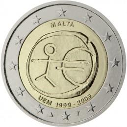 Malta 2009 - 2 euro commemorativo 10° anniversario dell'Unione Economica e Monetaria