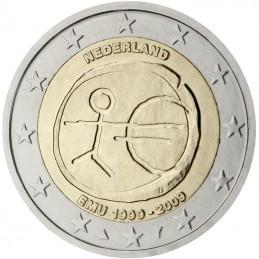 Olanda 2009 - 2 euro commemorativo 10° anniversario dell'Unione Economica e Monetaria