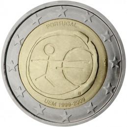 Portogallo 2009 - 2 euro commemorativo 10° anniversario dell'Unione Economica e Monetaria