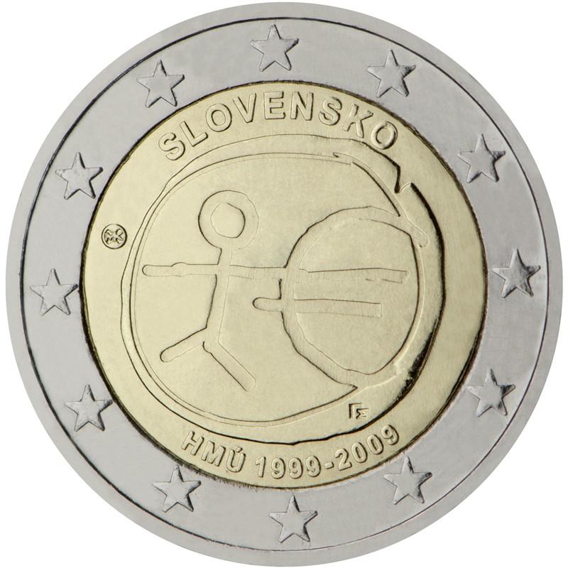 Slovacchia 2009 - 2 euro commemorativo 10° anniversario dell'Unione Economica e Monetaria