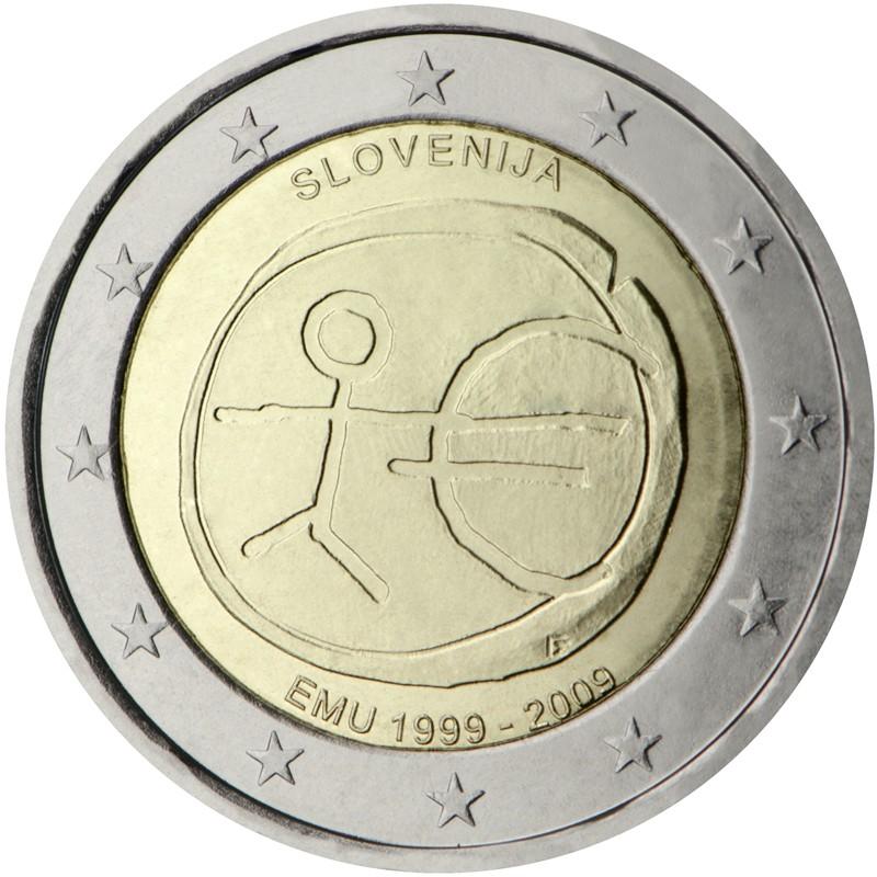 Slovenia 2009 - 2 euro commemorativo 10° anniversario dell'Unione Economica e Monetaria