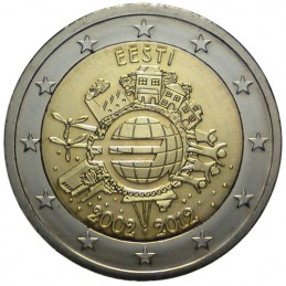 Estonia 2012 - 2 euro 10° Euro Moneta