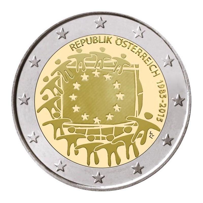 Austria 2012 - 2 euro commemorativo 30° anniversario della Bandiera Europea.