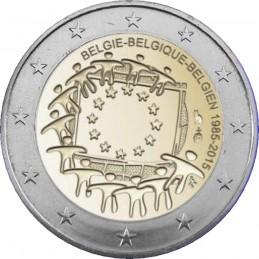 Belgio 2015 - 2 euro commemorativo 30° anniversario della Bandiera Europea.