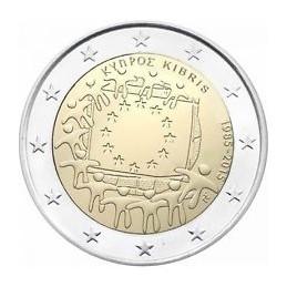 Cipro 2015 - 2 euro commemorativo 30° anniversario della Bandiera Europea.
