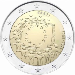Estonia 2015 - 2 euro commemorativo 30° anniversario della Bandiera Europea.