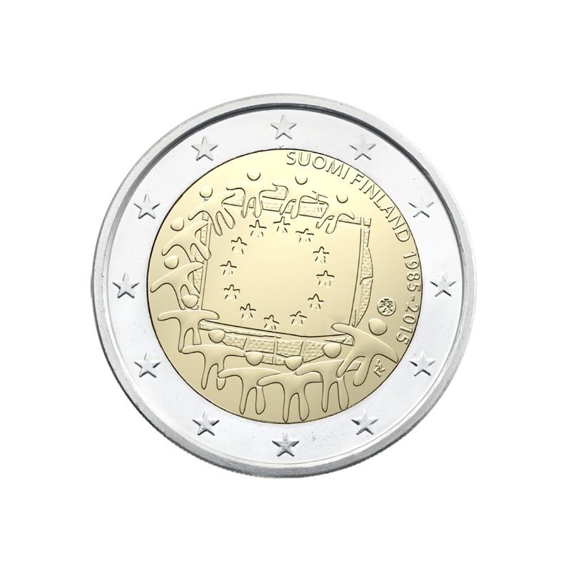 Finlandia 2015 - 2 euro commemorativo 30° anniversario della Bandiera Europea.