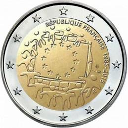 Francia 2015 - 2 euro commemorativo 30° anniversario della Bandiera Europea.
