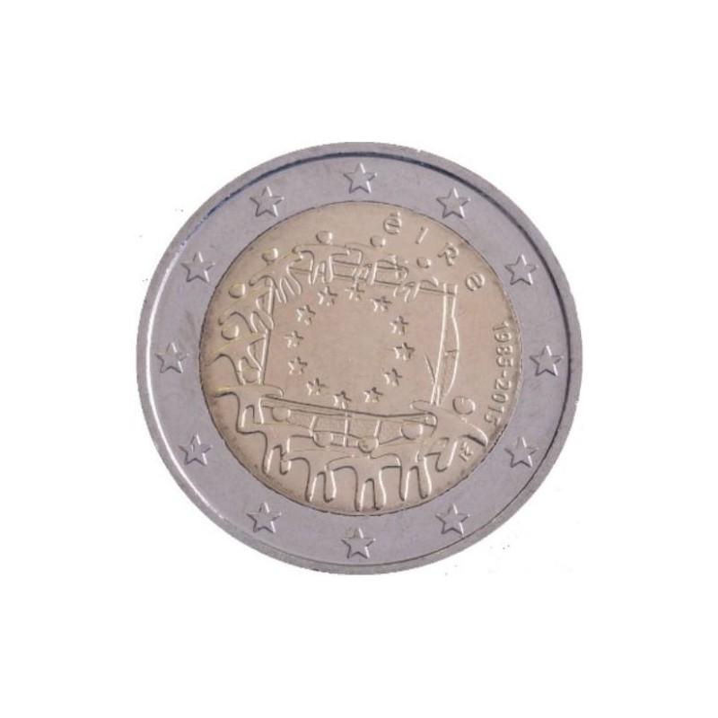 Irlanda 2015 - 2 euro commemorativo 30° anniversario della Bandiera Europea.
