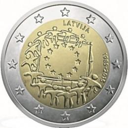 Lettonia 2015 - 2 euro commemorativo 30° anniversario della Bandiera Europea.