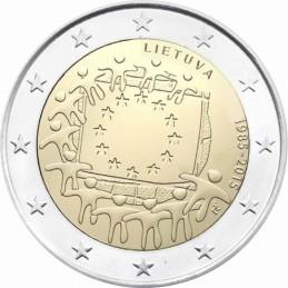 Lituania 2015 - 2 euro commemorativo 30° anniversario della Bandiera Europea.
