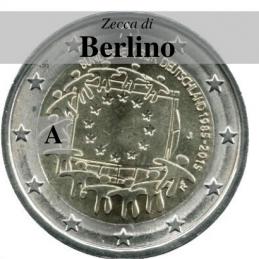 Germania 2015 - 2 euro commemorativo 30° anniversario della Bandiera Europea - zecca di Berlino A