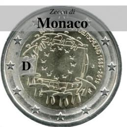 Germania 2015 - 2 euro commemorativo 30° anniversario della Bandiera Europea - zecca di Monaco D
