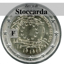 Germania 2015 - 2 euro commemorativo 30° anniversario della Bandiera Europea - zecca di Stoccarda F