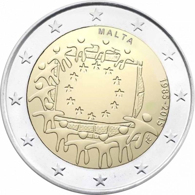 Malta 2015 - 2 euro commemorativo 30° anniversario della Bandiera Europea