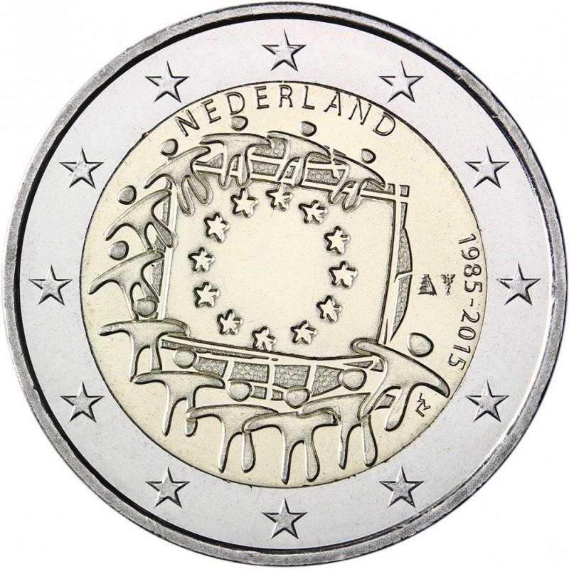 Olanda 2015 - 2 euro commemorativo 30° anniversario della Bandiera Europea