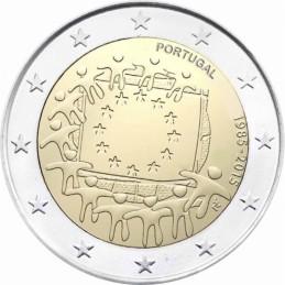 Portogallo 2015 - 2 euro commemorativo 30° anniversario della Bandiera Europea