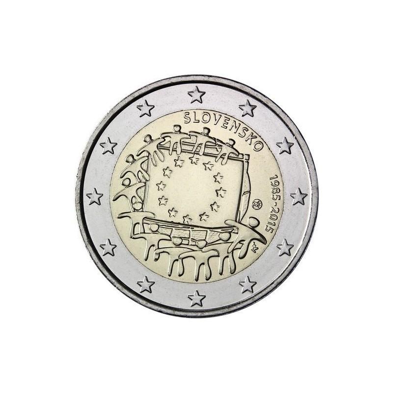 Slovacchia 2015 - 2 euro commemorativo 30° anniversario della Bandiera Europea