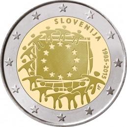 Slovenia 2015 - 2 euro commemorativo 30° anniversario della Bandiera Europea