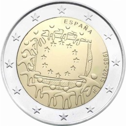 Spagna 2015 - 2 euro commemorativo 30° anniversario della Bandiera Europea