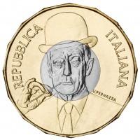Italia monete euro commemorativi in altri metalli.