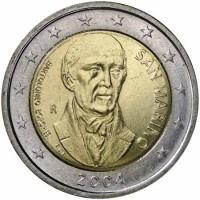 2 euro commemorativi singoli, dal 2004 ad oggi di San Marino