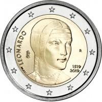 2 euro commemorativi singoli, dal 2004 ad oggi dell'Italia