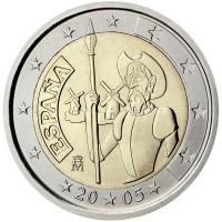 2 euro commemorativi singoli, dal 2005 ad oggi della Spagna