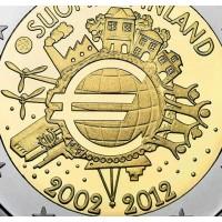 2 euro commemorativi singoli, 10° Anniversario Euro Moneta