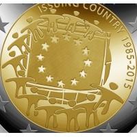 2 euro commemorativi singoli, 2015 - 30° Bandiera Unione Europea